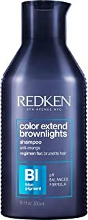 Redken Color Extend Brownlights Blue Shampoo | Hair Toner For Natural & Color-Treated Brunettes | Tones & Neutralizes Bras...