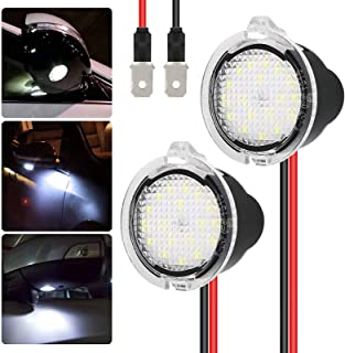 EEEKit 2-Pack LED Puddle White Lights Under Side Rear View Mirror for Ford Explorer Edge Mondeo Taurus Everest Lights