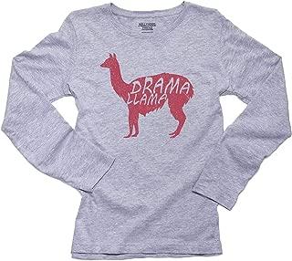Pink Drama Llama - Funny Women's Long Sleeve T-Shirt
