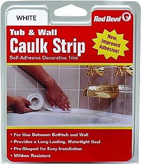 Red Devil 0151 Wide White 1-5/8-Inch by 11-Foot Tub & Wall Caulk Strip, 1-5/8