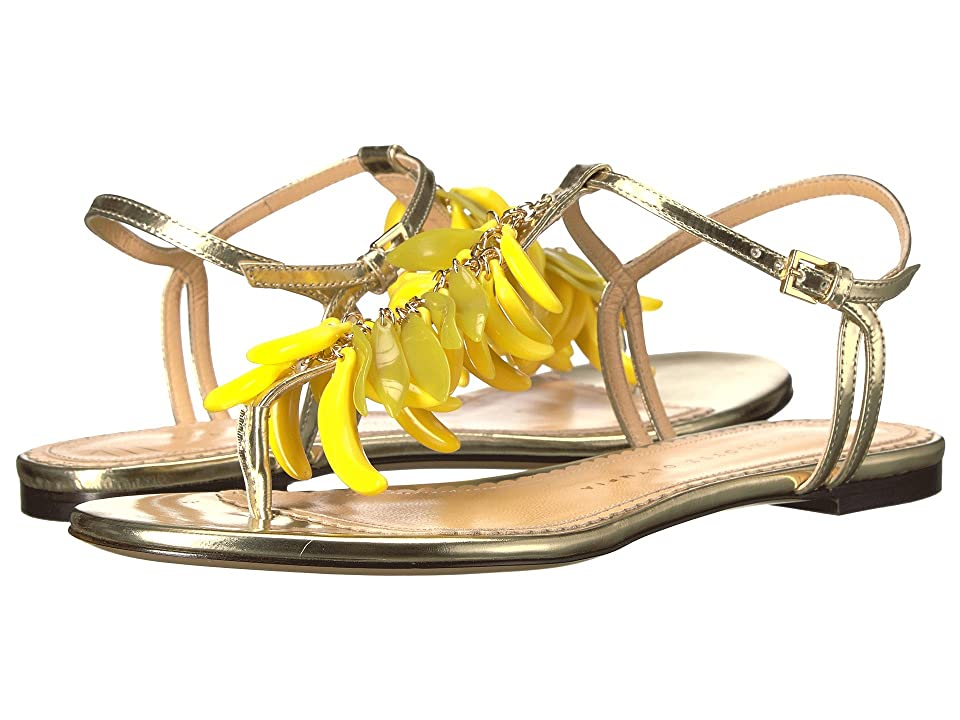 Charlotte Olympia Banana Sandals (Champagne Metallic Calfskin/Perspex) Women