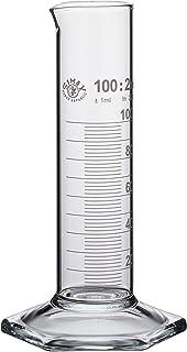 Neolab E-1278 - Cilindro medidor (100 ml, pie hexagonal de baja forma, alta clase B, 1 unidad)