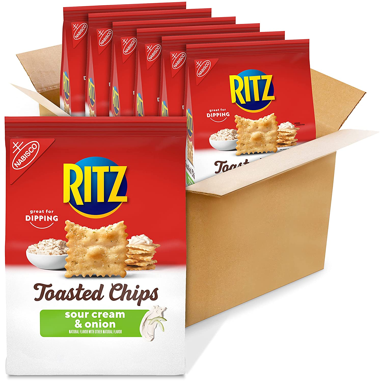 RITZ Toasted Chips Sour Cream and Onion Bag List Recommendation price 6 Crackers 8.1 - oz