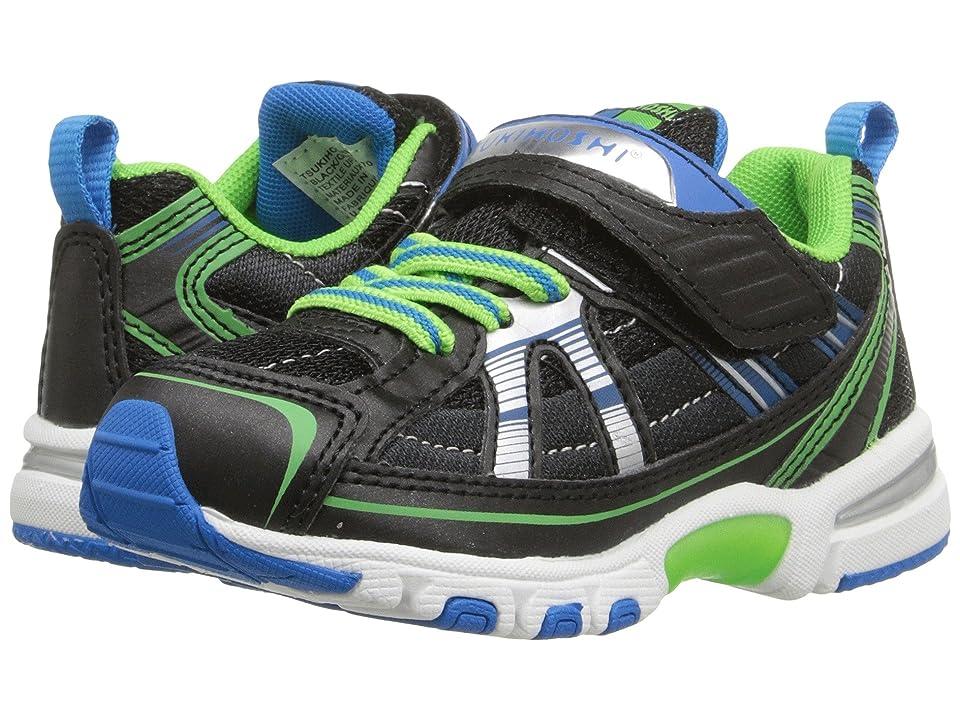 Tsukihoshi Kids Storm (Toddler/Little Kid) (Black/Green) Boys Shoes