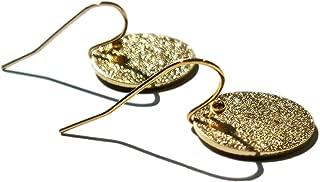 18K Gold Circle Dangle Earrings Shiny Earrings Small Circle Drop Earrings for Women Minimalist Jewelry Unisex