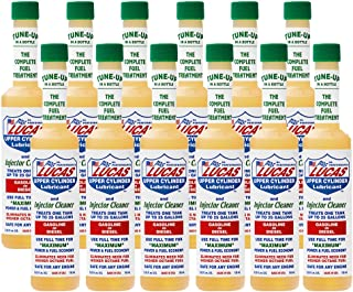 Lucas Upper Cylinder Lubricant & Fuel Injector Cleaner (5.25 oz.)-12 Pack