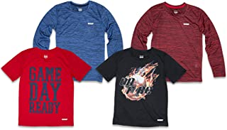 4PK Boys Youth Quick-Dry Breathable Performance Active Graphic T-Shirts