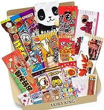 Trial Japanese Dagashi 20pcs Box 20pcs Umaibo Snack Gummy potato Chip Kitty chocolate w/AKIBA KING Sticker
