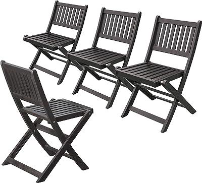 Amazon.com: Amedeo diseño resinstone silla de trono, Negro ...