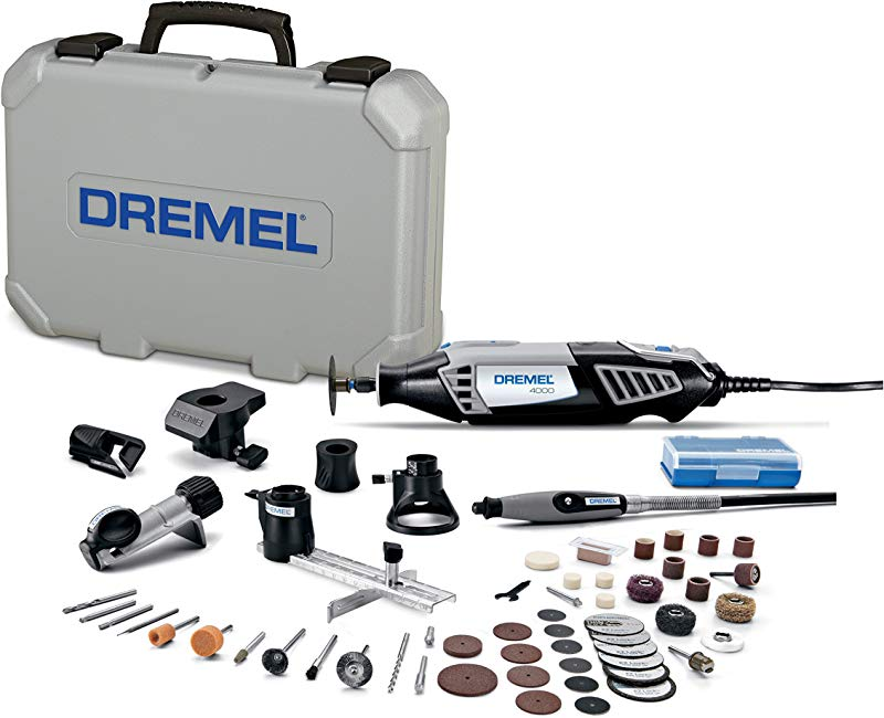 Dremel 4000 6 50 FF High Performance Rotary Tool Kit With Flex Shaft 6 Attachments 50 Accessories Grinder Sander Polisher Engraver Perfect For Routing Cutting Wood Carving Polishing