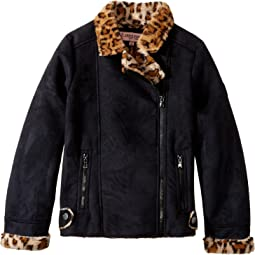 Ultra Suede Faux Shearling Jacket (Little Kids/Big Kids)