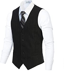 Best black pinstripe vest Reviews