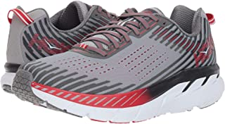 HOKA ONE ONE Clifton 5 Trail Running Shoe - Men Alloy/Steel Gray 12.5