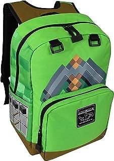JINX Minecraft Pickaxe Adventure Kids Backpack (Green, 17