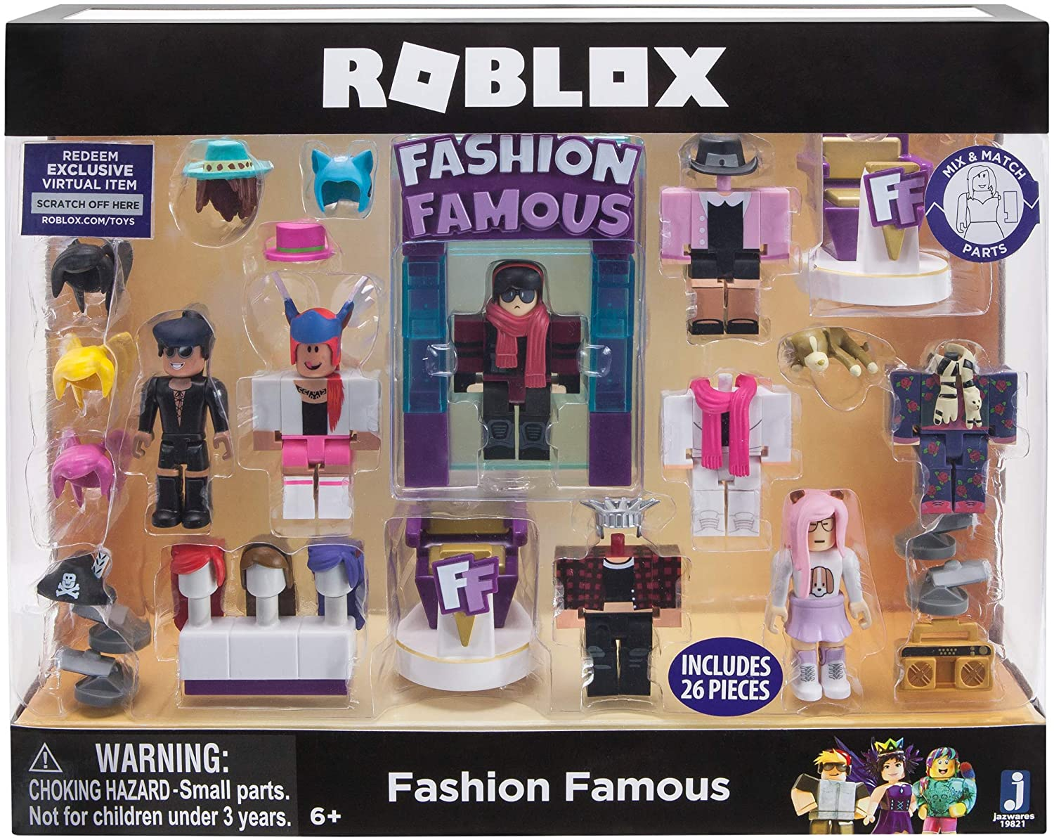 Roblox Celebrity Collection - Fashion Famous Playset [Includes Multi-color