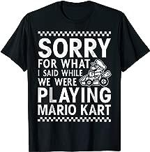 Nintendo Mario Kart Checkered Sorry Graphic T-Shirt