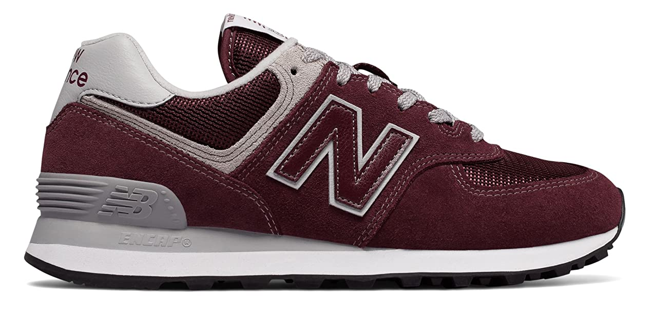 滞在原点甲虫(ニューバランス) New Balance 靴?シューズ レディースライフスタイル 574 Burgundy with White バーガンディ ホワイト US 9.5 (26.5cm)