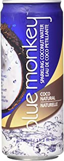 Blue Monkey Sparkling 100% Coconut Water, Natural Original, 11.2 Ounce (Pack of 12)