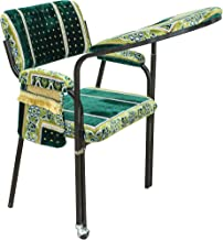 PRAYER CHAIR BLACK FRAME WITH GREEN MAT