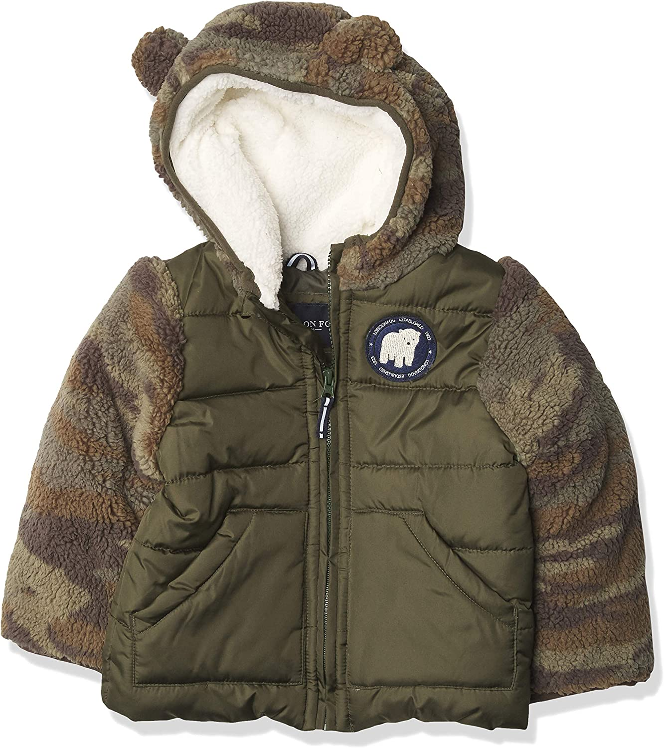 LONDON FOG Boys' Ranking TOP8 Cozy Sherpa Be super welcome with Ears Jacket Vest