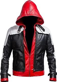 Men's Biker Leather Jacket - Slim Fit Style Leather Costume Men