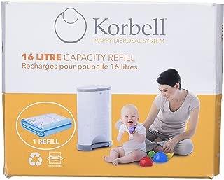 Korbell Bin Liner Standard Refill, 16 Litre, Green