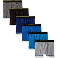 6-Pack Hanes Boys' Cool Comfort Breathable Mesh Boxer Brief