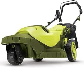 Sun Joe MJ404E-360 16-Inch 12-Amp 360-Degree Turning Radius Electric Lawn Mower, Green