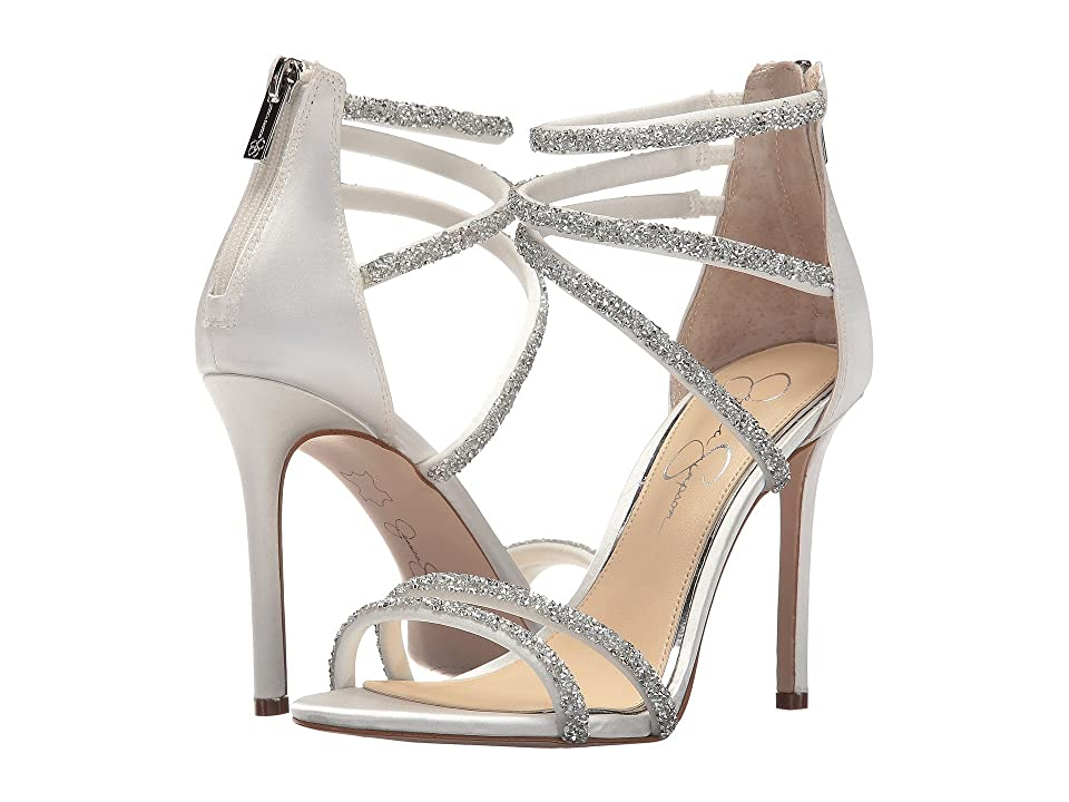 Jessica Simpson Jamalee (White Gloss Satin) Women