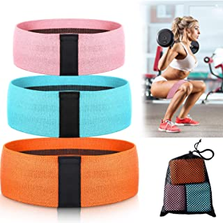 Exercise Resistance Bands for Legs and Butt, Workout Exercise Hip Bands, 3 Sizes Yoga Fitness Bands Loop Non-Slip Bands El...