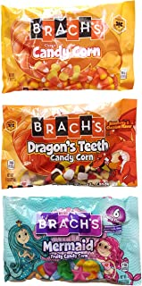 Classic Candy Corn 11 Oz, Dragon's Teeth Candy Corn 9 Oz, Mermaid Fruity Candy Corn 9 Oz - Variety Pack Bundle of 3