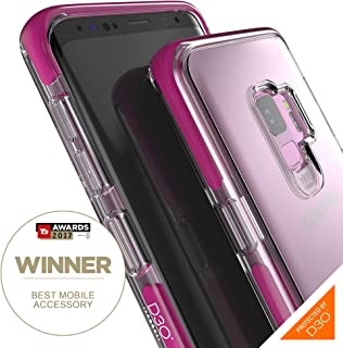Gear4 Piccadilly Clear Case with Advanced Impact Protection D3O, Compatible with Samsung Galaxy S9 – Purple