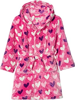 Multi Hearts Fleece Robe (Toddler/Little Kids/Big Kids)