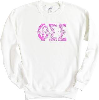 Phi Sigma Sigma Pink Floral Sorority Crewneck Sweatshirt