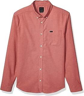 RVCA Men's Thatll Do Stretch Long Sleeve Woven Button Front Shirt