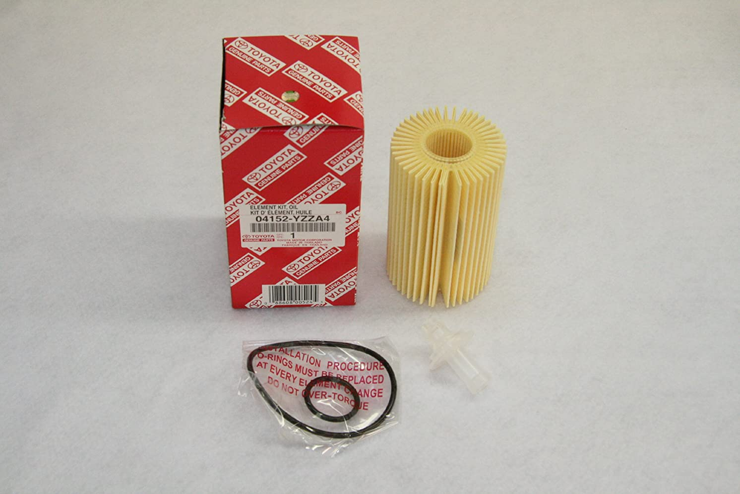 Toyota Genuine Parts 04152-YZZA4 Replaceable Oil Filter Element 1 Case (QTY 10)