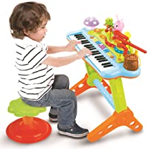 Prextex Toy Piano Keyboard for Kids with Real Working Microp