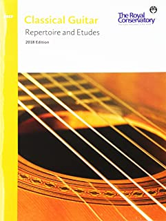 G5R00 - Classical Guitar Repertoire and Etudes - The Royal Conservatory 2018 - Prep Level