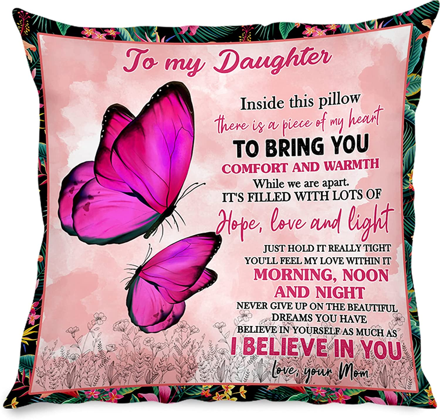 Ranking TOP7 Ranking TOP7 New Linen Pillow Case Insert Included Mom from Daughter to My