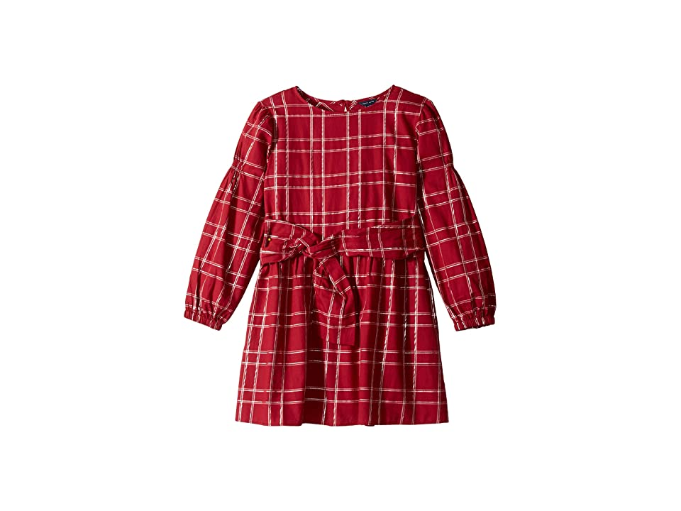Tommy Hilfiger Kids Plaid Dress (Big Kids) (Rhubarb) Girl