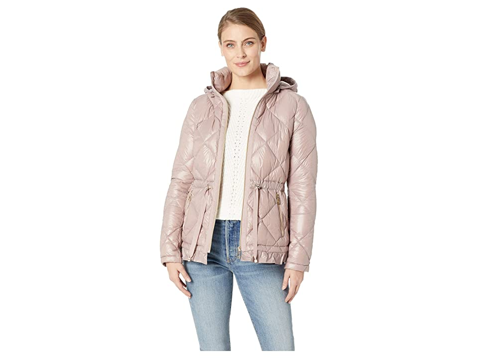 Ivanka Trump Peplum Packable with Hood (Shadow Pink) Women