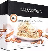 BalanceDiet™ | Protein Bar | 15g of Protein | Low Carb | 7 Bar Box (Salted Toffee Pretzel)