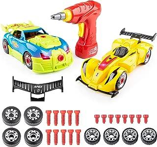 USA Toyz Kid Nitro Race Car Take Apart Toys - 2Pk Build A Car Kit, STEM Toys Building Set (52 Pcs)