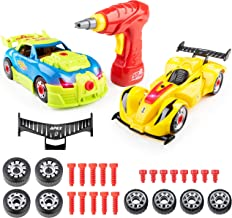 USA Toyz Kid Nitro Race Car Take Apart Toys - 2Pk Build A Car Kit, STEM Toys Building Set (52 Pcs)
