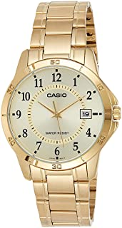 Casio Men's Silver Dial Stainless Steel Analog Watch - MTP-V004G-9BUDF