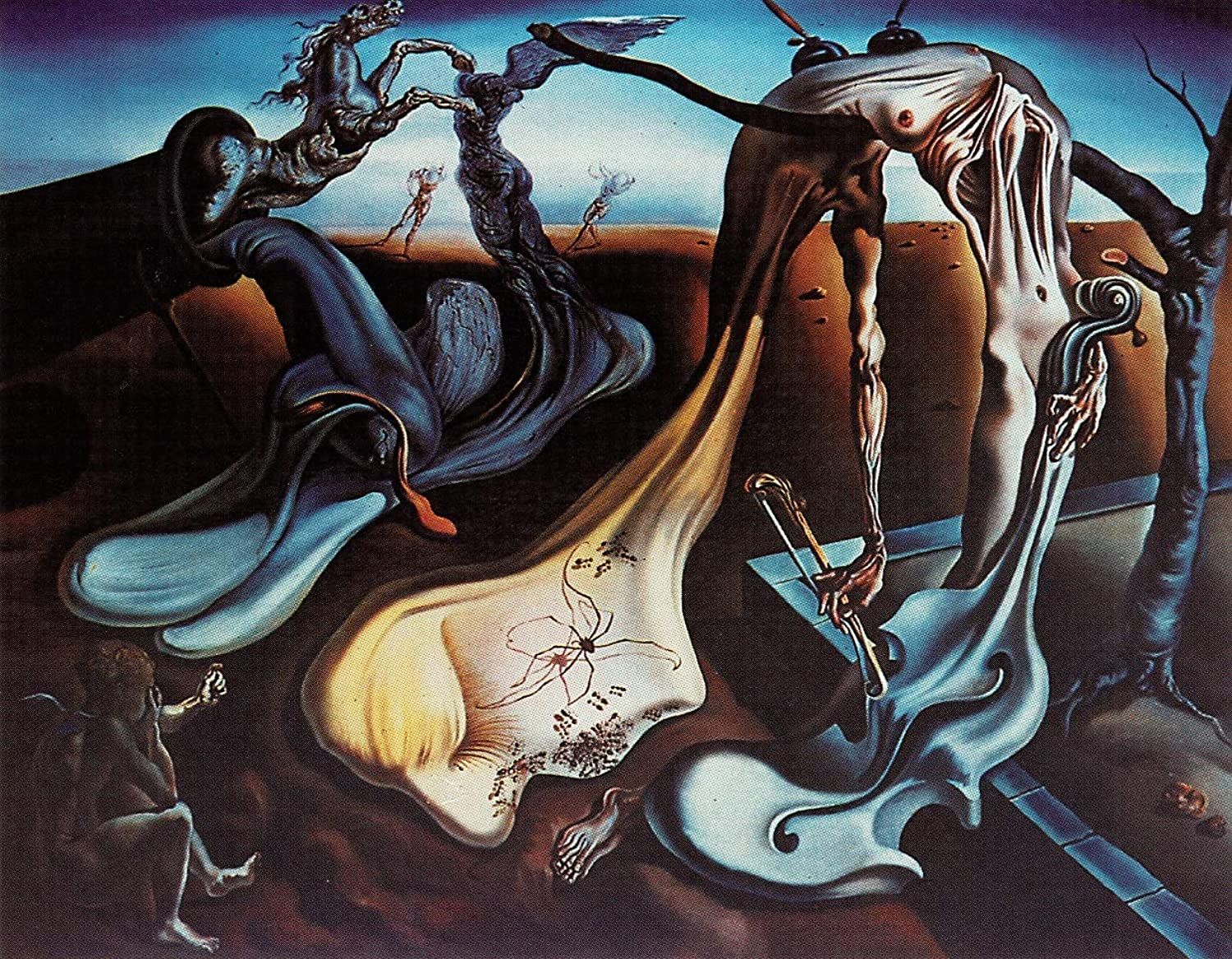 Black Creations Spider of the Evening...Hope  1940 Salvador Dali Poster Canvas Picture Art Print Premium Quality A0 A1 A2 A3 A4 (A0 Canvas (30 40))