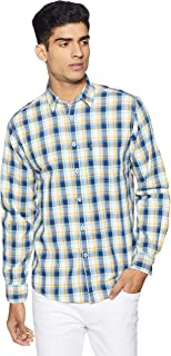 Pepe Jeans Men's Checkered Slim Fit Cotton Casual Shirt