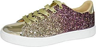 Glitter Sneakers Lace up | Fashion Sneakers | Sparkly Shoes for Women