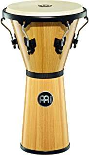 """Djembe in Natural Finish, Hardwood - NOT MADE IN CHINA - 12.5"""" Goat Skin Head, Mechanically Tuned, 2-YEAR WARRANTY"""