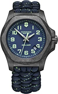 Victorinox - Hombre I.N.O.X. Carbono - Reloj de Acero al Carbono de Cuarzo analógico de fabricación Suiza 241860
